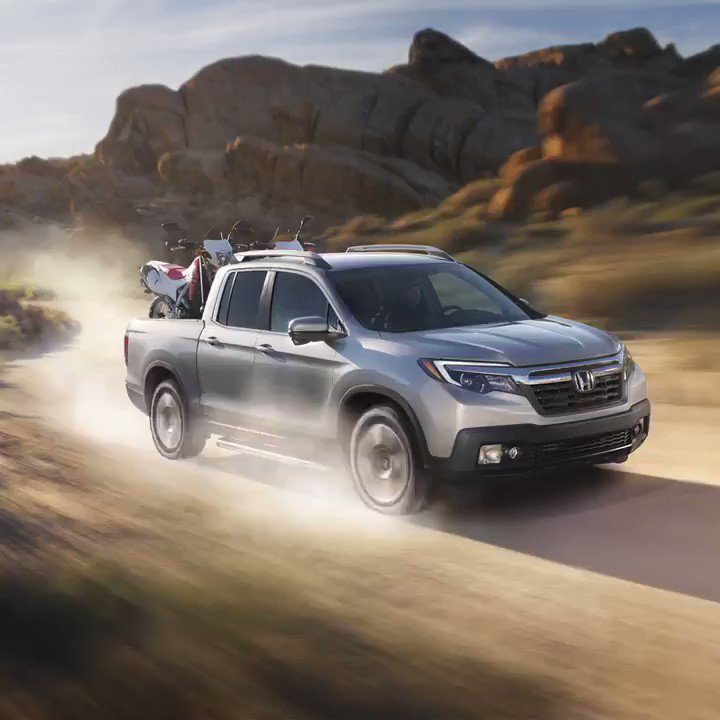 Speed you can see: the #HondaRidgeline. ⏩ This sleekly-styled truck has all you need for the ultimate adventure, whether it's in #RhodeIsland or states away: