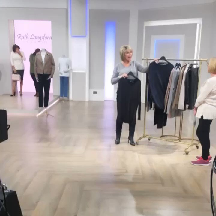 .... and we're LIVE! It's good to be back! Come and join us on @qvcuk for an hour of my #ruthlangsfordfashion range! #1stshowofthedecade