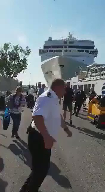 Who the fuck is driving these cruise ships?