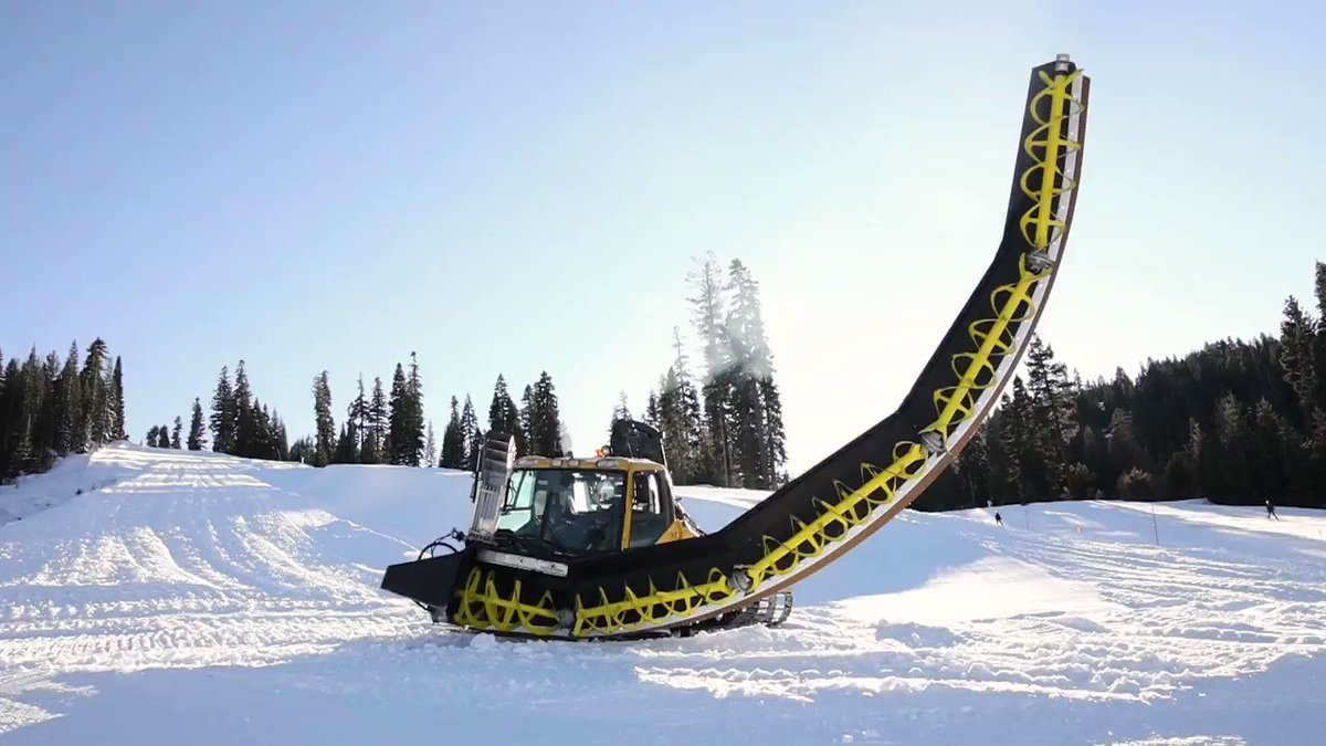 The work is complete. The half pipe opens tomorrow!