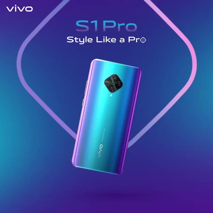 Style meets power! The new #vivoS1Pro comes with super AMOLED display, 48 MP AI Quad Rear Camera, 32 MP AI Selfie Camera, & much more. Grab it now at INR 19,990/-  Enjoy cashbacks, EMI & One Time Screen Replacement offers on every purchase. Know more : http://bit.ly/2FhaiH1