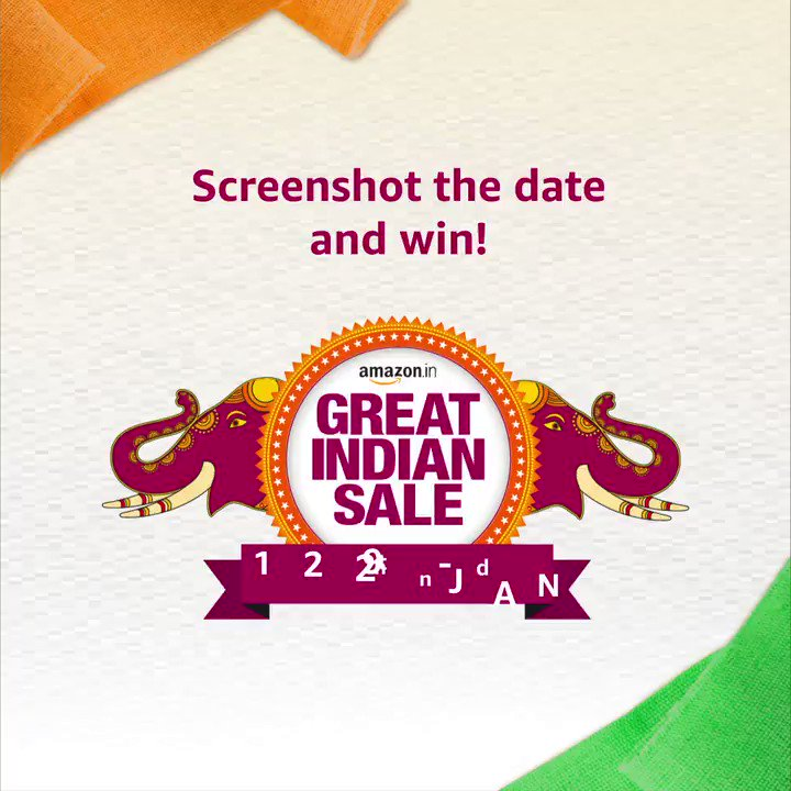 It's time to enjoy badi savings on new beginnings at the #AmazonGreatIndianSale.  Screenshot the right date and you could win an Amazon voucher.  Check the terms and conditions of the contest here- http://bit.ly/35IzXTU