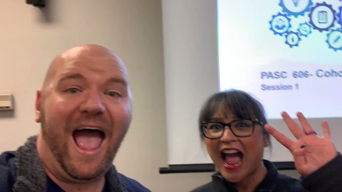 Only four more classes left in our admin program. @EdGigliotti and I are so excited #c12pasc
