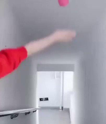 わっか飛行機の作り方↓。娘とマンションの階段で試したけど予想以上に飛んだ。子供も盛り上がるのでオススメです✨。