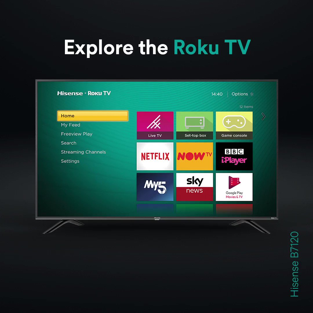 Get the most from your TV with @RokuUK 😍  Explore the Hisense B7120 today 👉 http://bit.ly/Hi-B7120