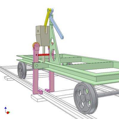 Parking Brake for Railway Cart