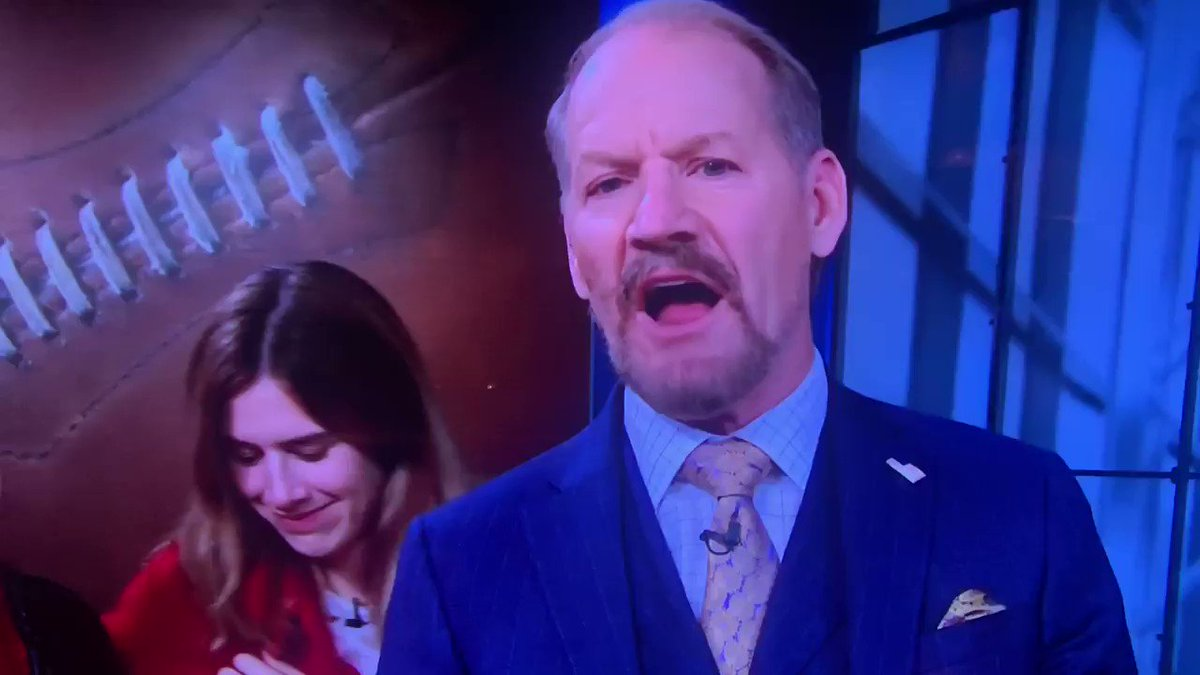 Image for the Tweet beginning: Bill Cowher on LIVE TV