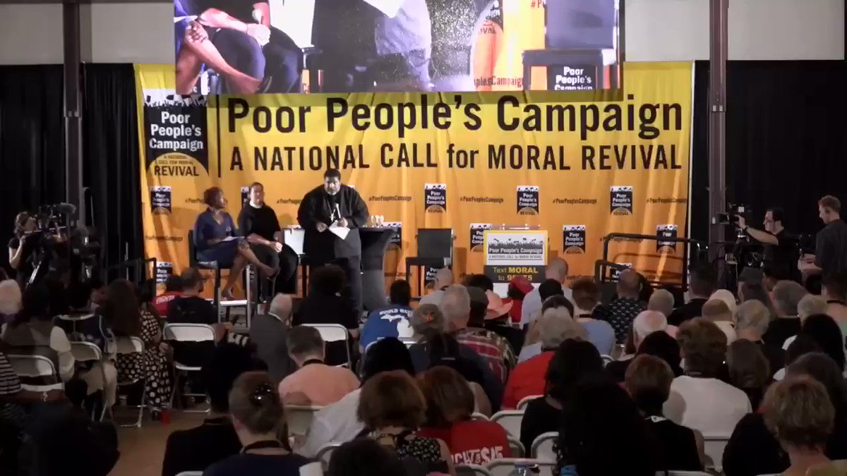 Scoop: 250K ppl die from poverty every year in the US, we are in a moral crisis. If you don't hear our struggle inside #DemDebate tonight, then meet #PoorPeoplesCampaign right outside at #MoralMarchonDebate. @TimesNewsEditor @barb_ickes @ToddKrysiak @almajgaul https://t.co/HsY8Oq9MqK