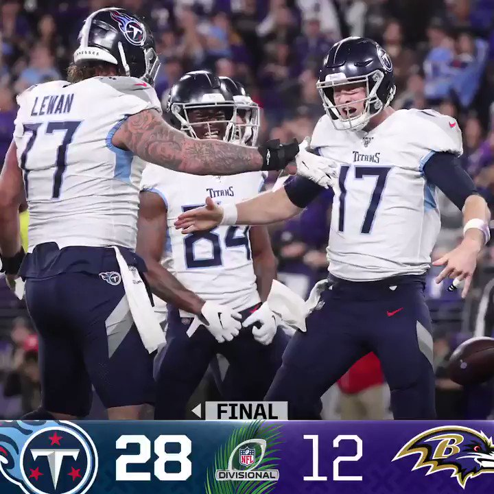 FINAL: The @Titans defeat the Ravens in the Divisional Round! #NFLPlayoffs #Titans #TENvsBAL(by @Lexus)