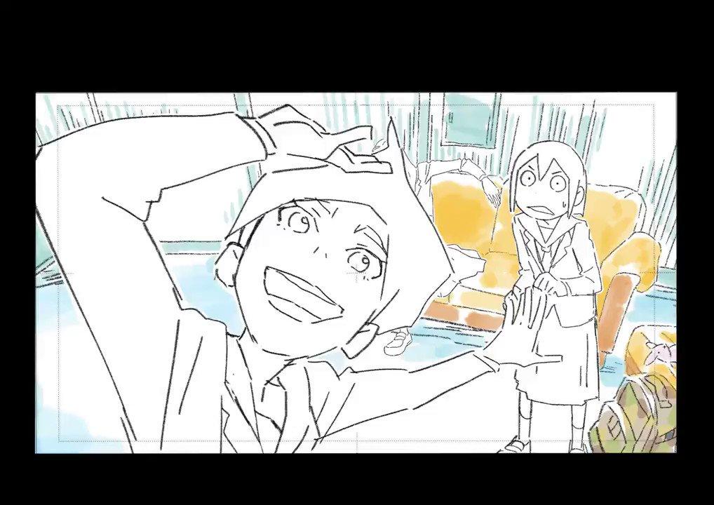 踊る水崎氏第2話、今夜です#映像研 #eizouken_anime