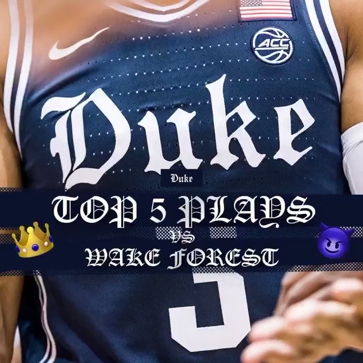 𝔗𝔬𝔭 𝔭𝔩𝔞𝔶𝔰 from the dub over Wake #DukeMBBTop5 💵🔨🔒😈