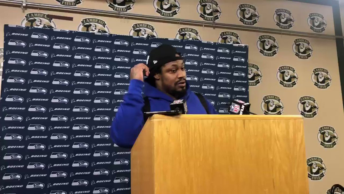 KNOWLEDGE DARTS from Marshawn before he walks off maybe forever