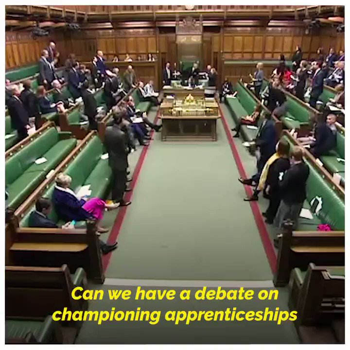 🗣️ In 2018/19, 742,400 people were participating in an apprenticeship in England. In Business Questions, Robert Halfon MP asked the Leader of the House about apprenticeships which combine practical training in a job with study. @halfon4harlowMP | @Jacob_Rees_Mogg