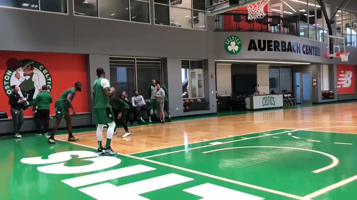 There was a football at Celtics shootaround today.