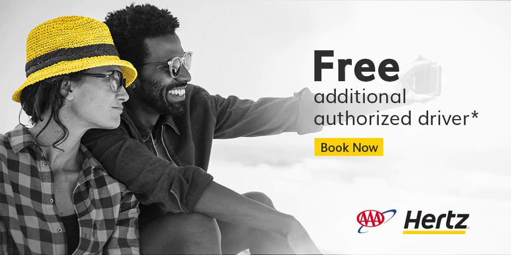 Travel more and get more with a FREE Additional Driver* from #AAADiscounts & @Hertz.    Book now: . Terms apply.* 🚘