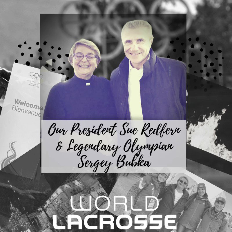 Image for the Tweet beginning: World Lacrosse President Sue Redfern