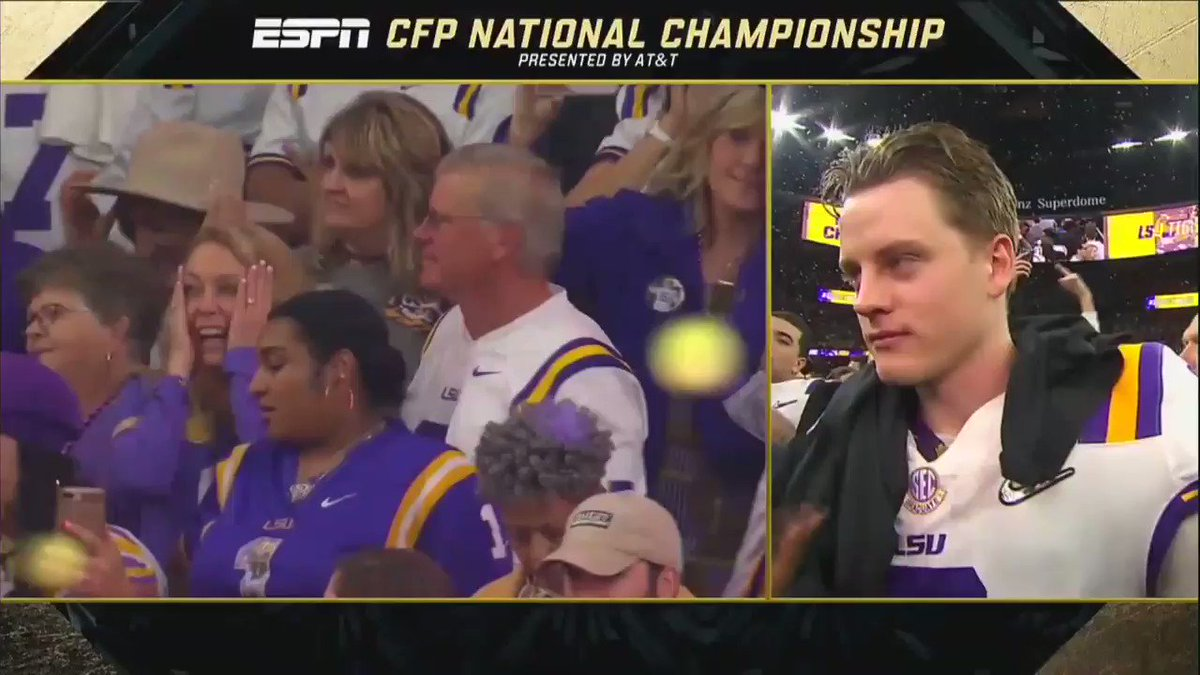 Joe Burrow's Postgame National Championship Interview Is Going Viral