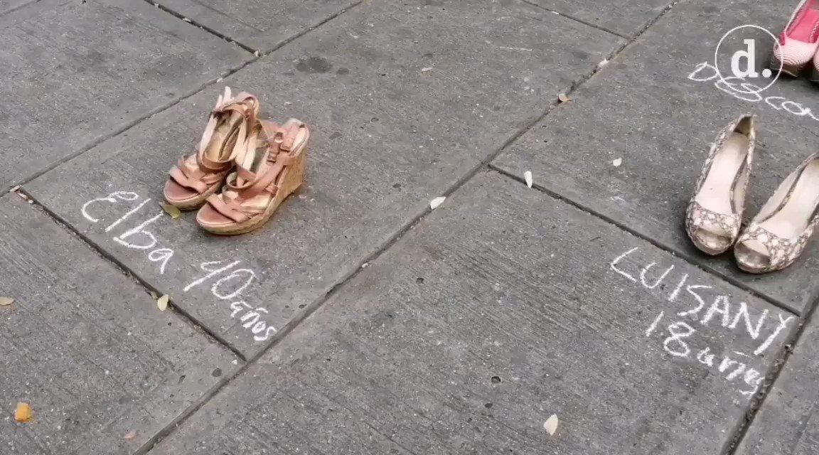 Image for the Tweet beginning: #14Ene Movimientos feministas protestan en