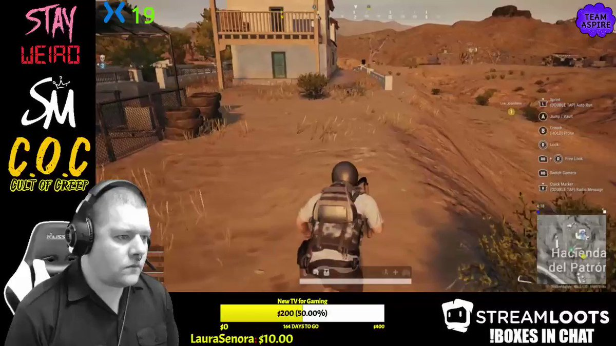 My First Kill! He was just a tad more trash than me and I'm a streaming pile LMAO! p.s. First time playing.   #mixerstreamer #CultofCreep #PUBG