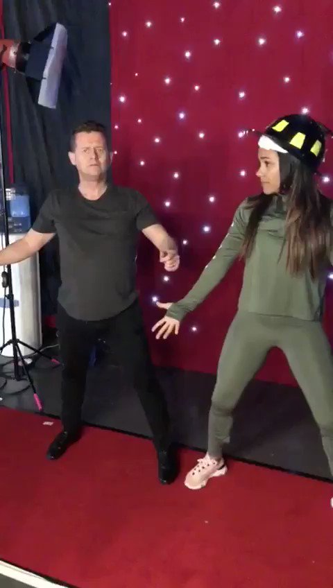 What did we learn on @bbcstrictly live tour today? 🤔 Well @mikebreakfast showed me the 'dolphin' move 🤣 Watch out for this one.. we got this!