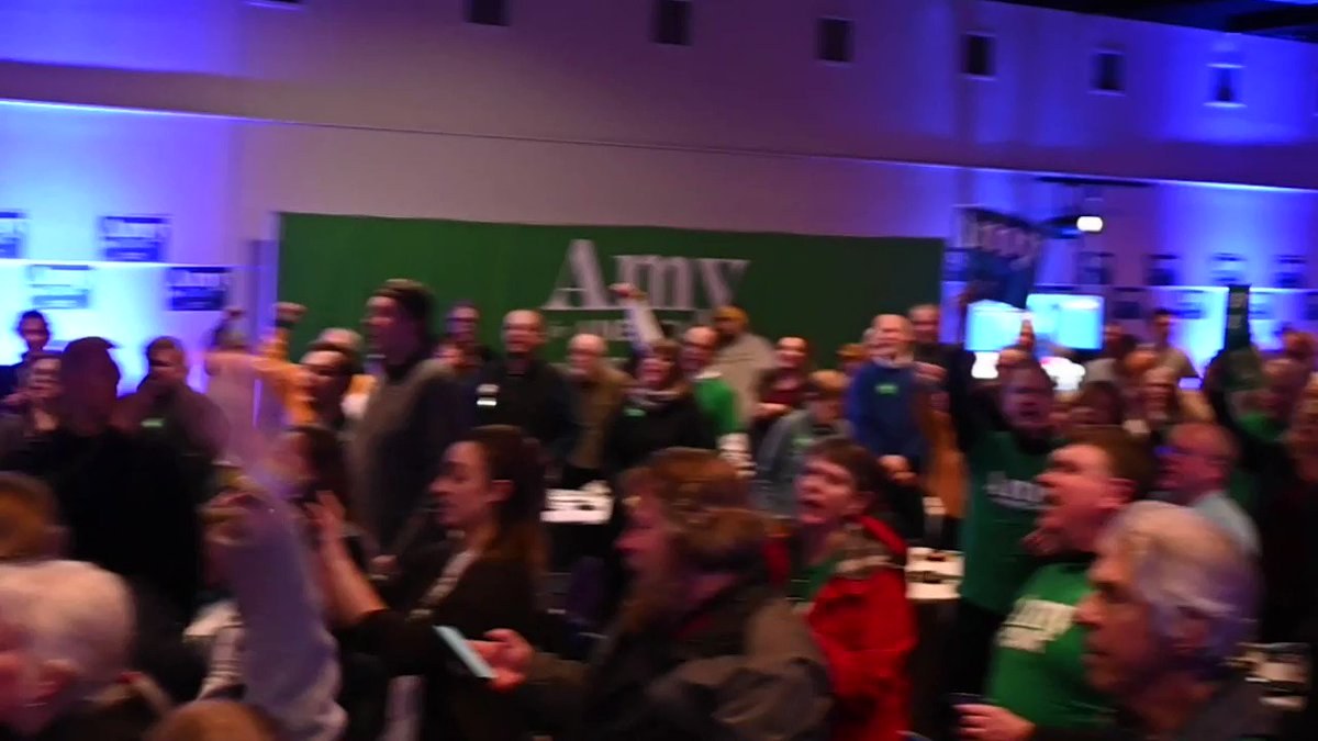 WOW!!! @amyklobuchar has a debate watch party at @DrakeUniversity that is fired up! Klomentum!!