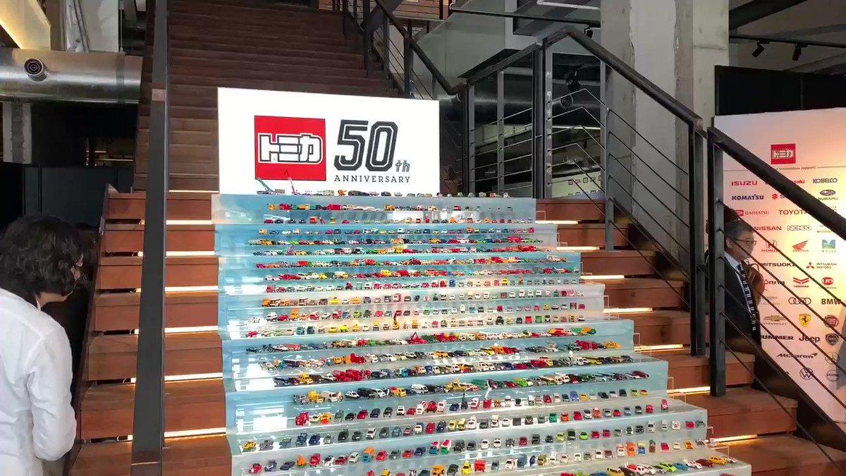 トミカ50周年!歴代車種1000種類がずらっと並びました。#トミカ #トミカ50周年 #いつだってカッコいい