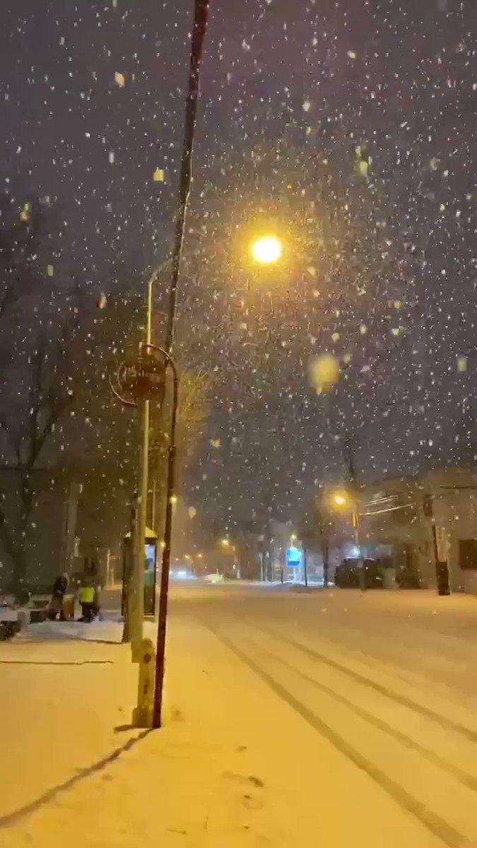 雪が降って積もってきた現在の札幌を逆再生したら、少しだけ神秘的になりました。