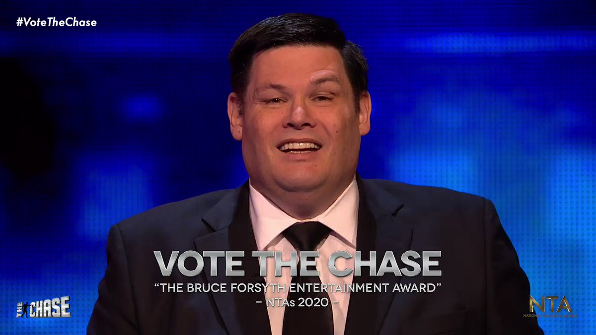 Wondering how to vote in the National TV Awards? @MarkLabbett has some words of encouragement. 😉 #VoteTheChase Better watch your back, @davidwalliams. 👀 ➡️ bit.ly/VoteTheChaseNTA