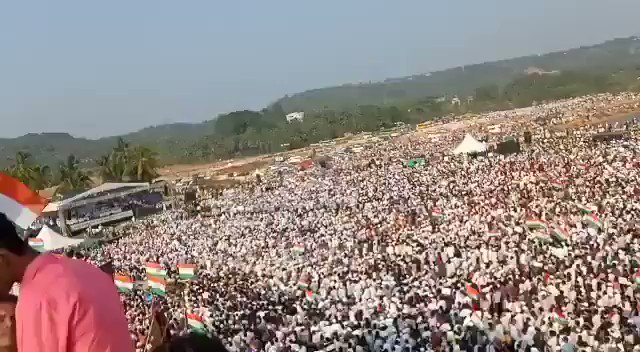 A sea of people is protesting at Mangalore, Karnataka against the CAA, NRC, and NPR.People of India are reclaiming the republic.#CAA_NRCProtests #CAA_NRC_Protests