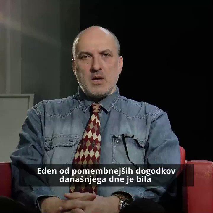 Image for the Tweet beginning: Janez Markeš o današnjem dogajanju