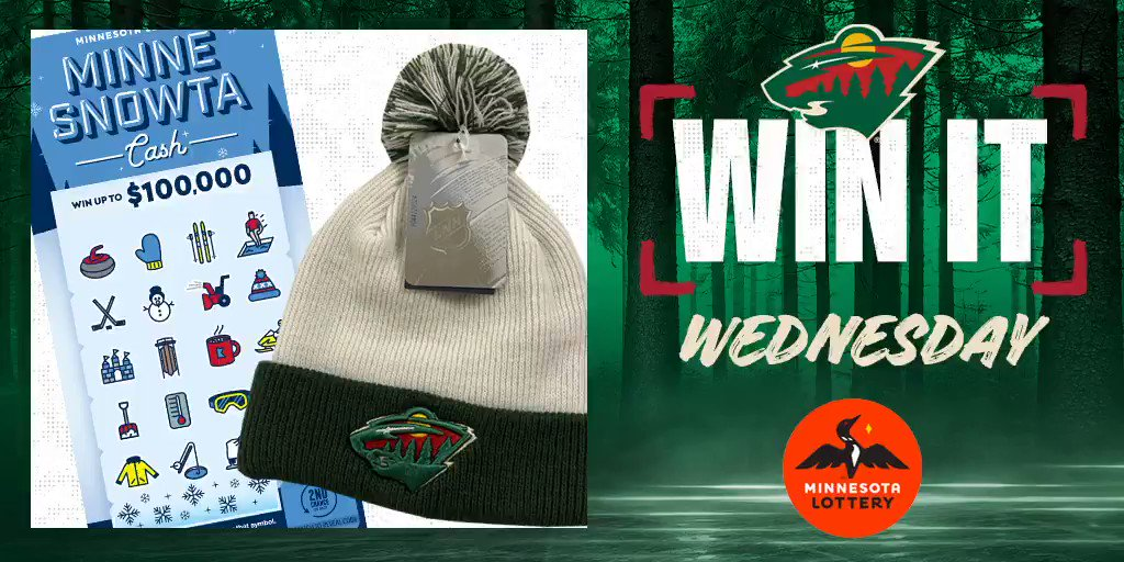 🎉 Say I'MN to #WinItWednesday. 🎉  RT for a chance to win a #mnwild stocking cap, $50 in @mnlottery scratch 🎟 and more!  Rules: