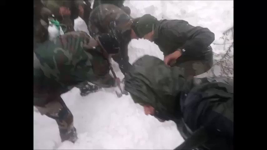 #HumsayaHainHum. Jawans dig at frantic pace in search of Tariq Iqbal. Excited when he is found.Relieved when he has a pulse. Rejoice when he responds.Today Tariq walked back home from hospital. Wishing Tariq all the happiness.#PreciousLivesSaved#VRWithU4U@adgpi https://twitter.com/ChinarcorpsIA/status/1217320152775004160…