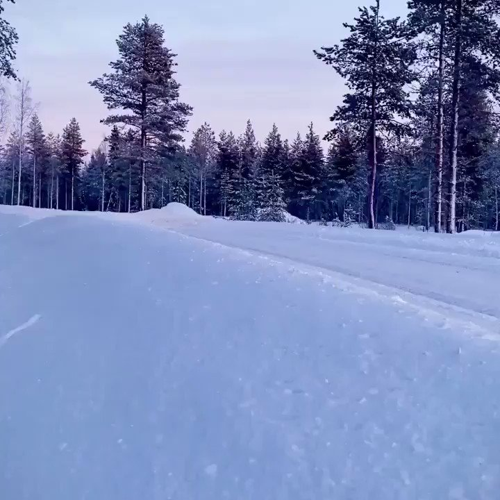 📍 Lapland  ❄️ @ValtteriBottas   Just your average holiday for this Finn 😜