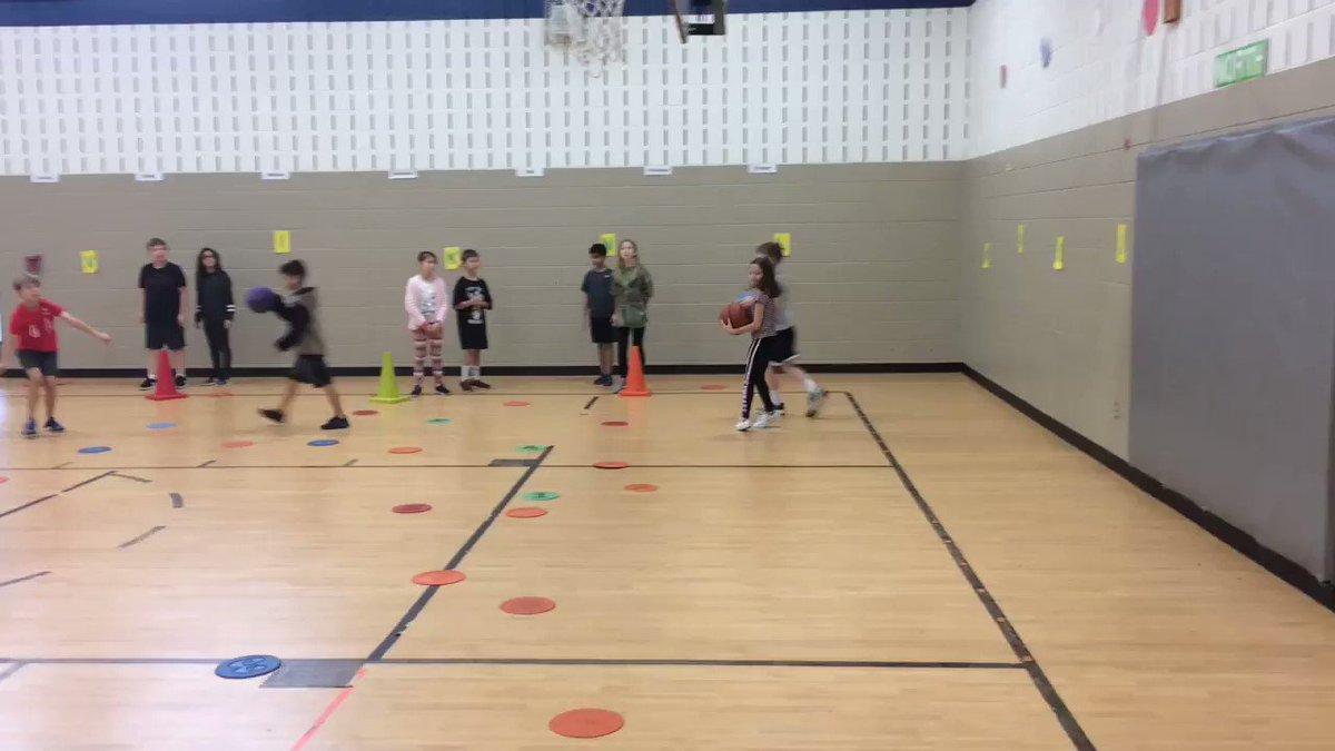 4th grade practicing their basketball skills #gesshineon @GESMBASIL