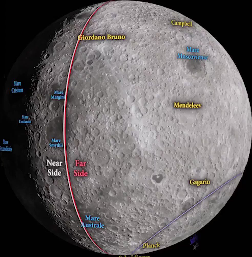 All the locations and features of our Moon 🌑