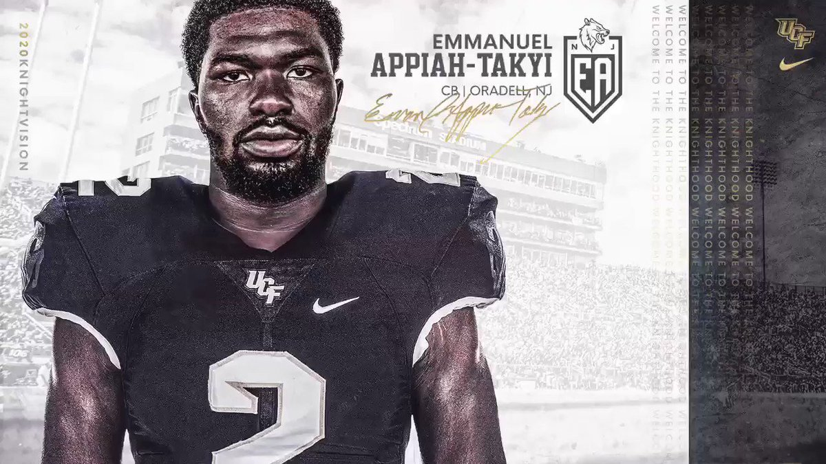 Got ourselves a ball-hawking CB who racked up 8 INTs last season 👀🙌 Welcome home, @Apemmanuel‼️ #2020KnightVision ⚔️ #Go1and0