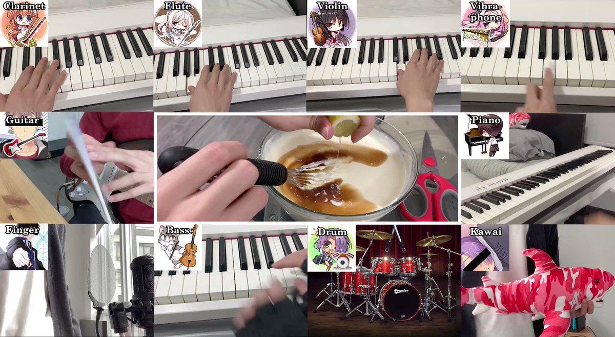 (演奏動画は)初投稿です。喫茶ステラのopをみんなでセッションしてみました。メンバー達は目立ちがり屋なので、メロディーの邪魔を積極的に行っています。エレキギター歴二週間なので、適当に弾いてます… #喫茶ステラ #ゆずソフト フルはこちらから→