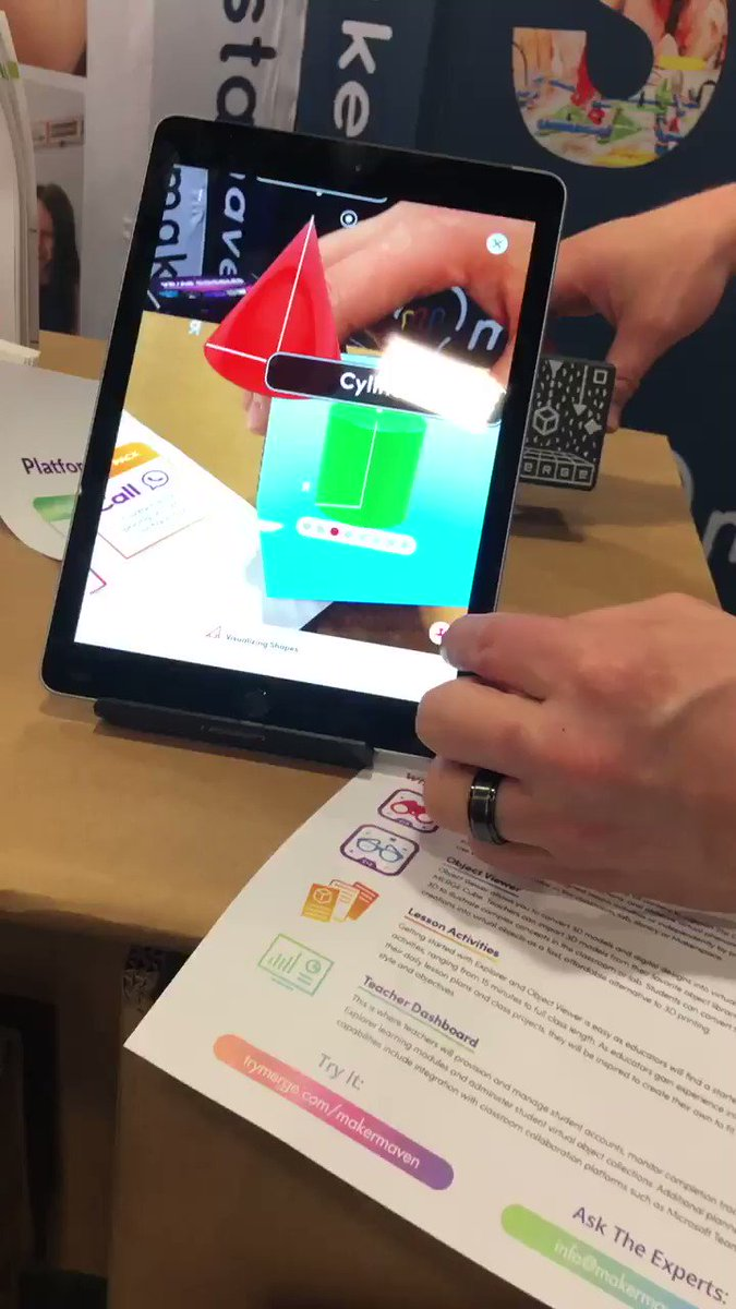 Bringing math to life with @MergeVR! @RosemontEagles @VBTitleI #FETC #FETC2020