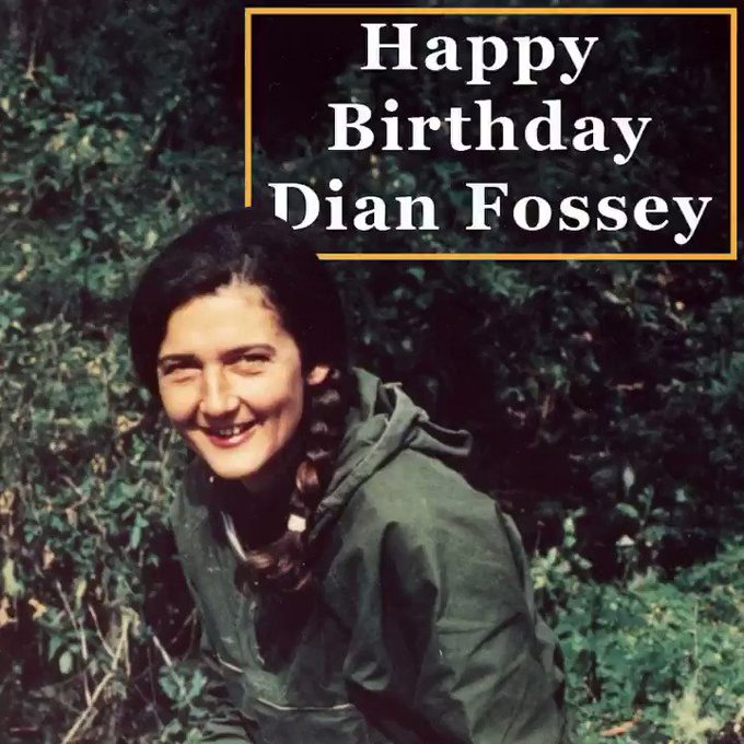 Happy Birthday, Dian Fossey. Your legacy lives on!