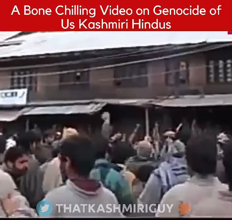 Those who were too young to know what happened to Kashmiri Hindus in 1990s watch this.This is how Pandits were thrown out of Kashmir which was once their own.