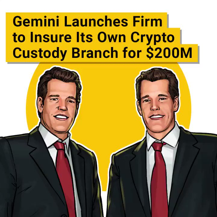 Image for the Tweet beginning: The Winklevoss's Gemini exchange launches