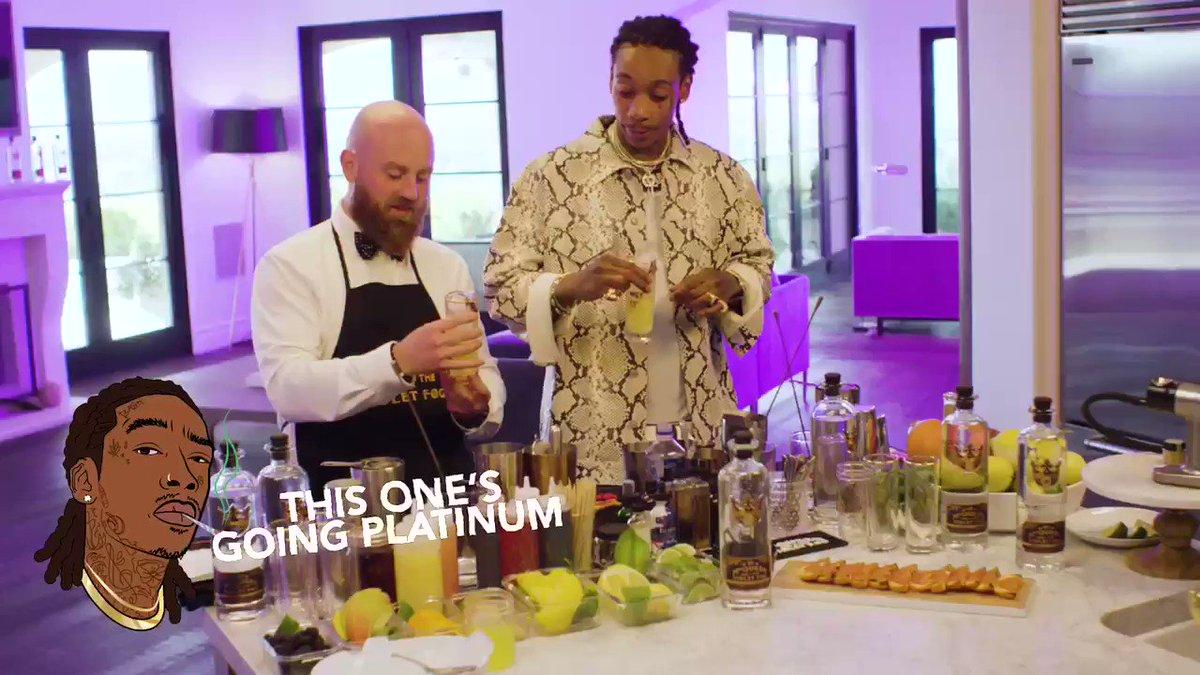 One lemonade you have to try @wizkhalifa 🍋🍸 #mcqueenvioletfog #goingplatinum