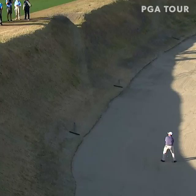 This is it, this is the craziest sand save in PGA Tour history