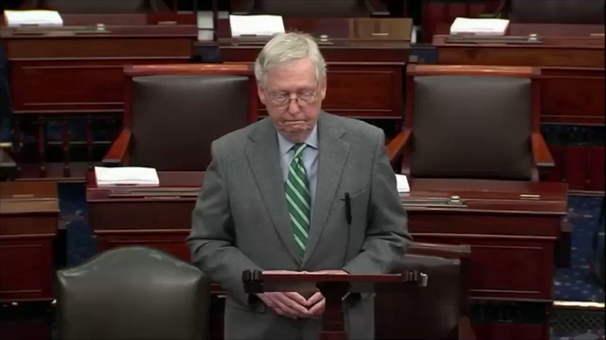 'This body, this chamber, exists precisely so that we can look past daily dramas and understand how our actions will reverberate for generations. The House's hour is over. The Senate's time is at hand. It is time for this proud body to honor our founding purpose.'