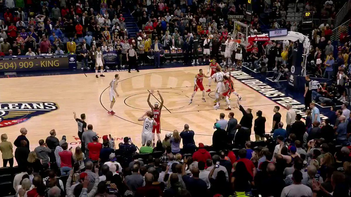 Brandon Ingram nailed what everyone thought was a game winner, but the refs gave Rudy Gobert free throws from this and they went to overtime...but sadly for the Jazz, ball didn't lie and the Pelicans still won