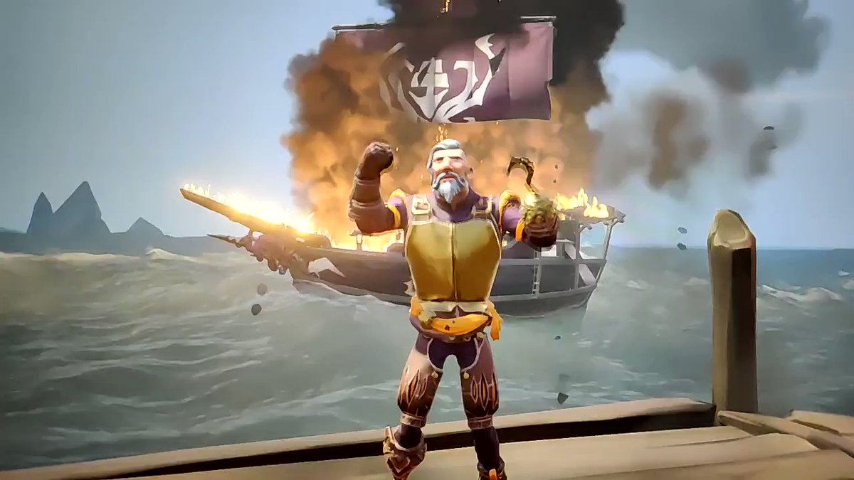 Light 'em up up up! I'm on fiyaaa #seaofthieves