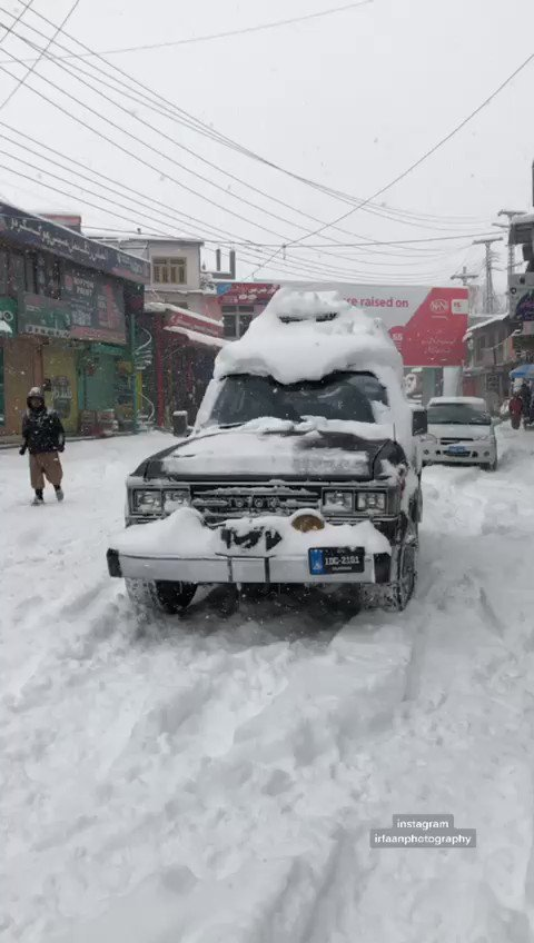 It's rare to see vehicle mobility in #Skardu #GilgitBaltistan these days due to snow and icy roads, 4x4 moving vehicle often look like this in the video. @GBpak @PakistanNature @PahicColombo @PakistaninParis @Pak_Discover @jamilnagri @saiyahtravels Video Credit: @irfanphotograpy