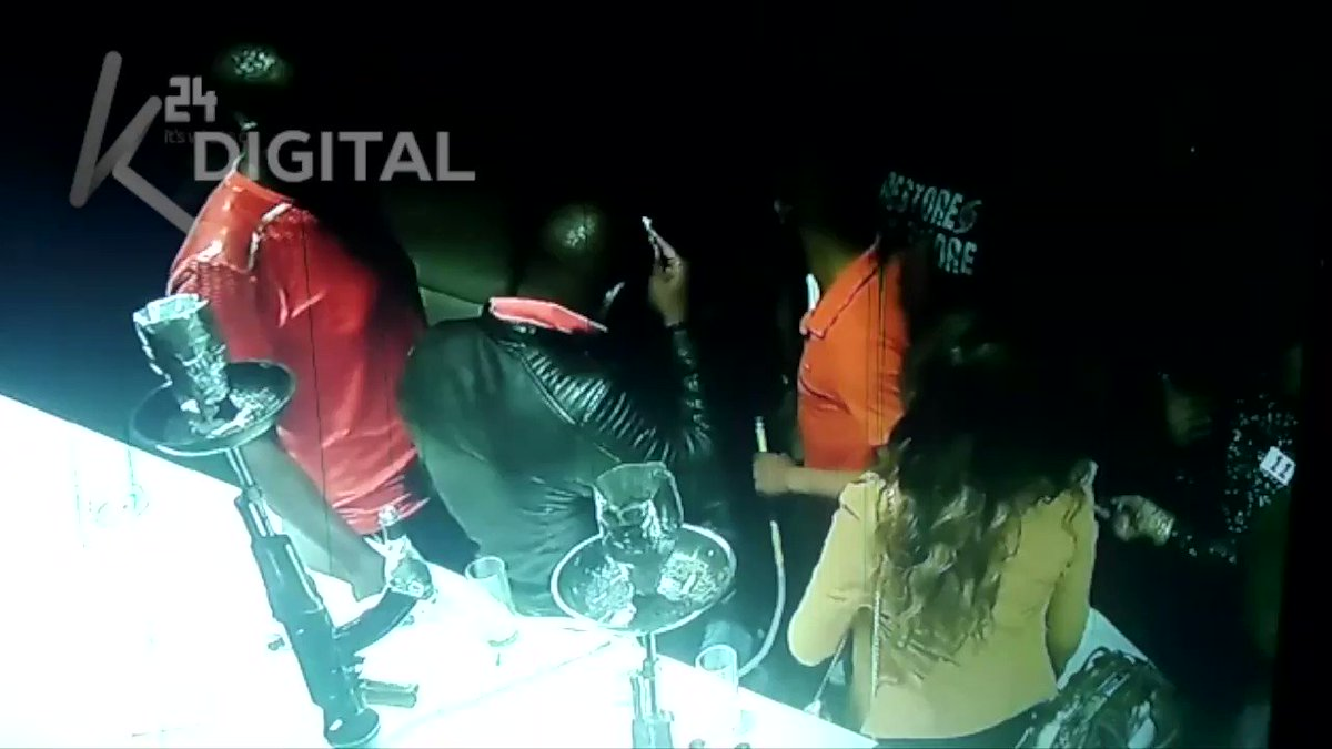 WATCH: CCTV footage of man believed to be Babu Owino shooting DJ at Nairobi's B-Club, then dragging victim on the floor, taking him outside the nightclub. VIDEO | LENOX SENGRE