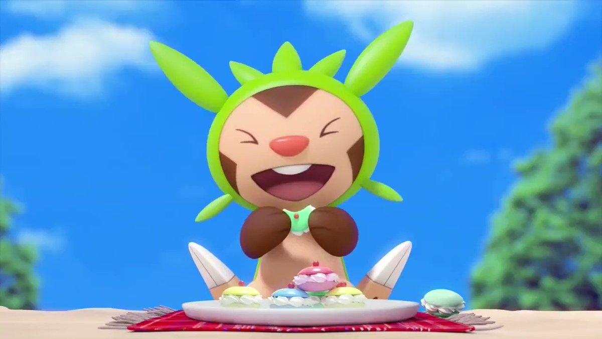 Pokémon ha publicado hoy otro vídeo ASMR protagonizado por Chespin comiendo dulces. Video completo: youtu.be/_dDtqwXE10U