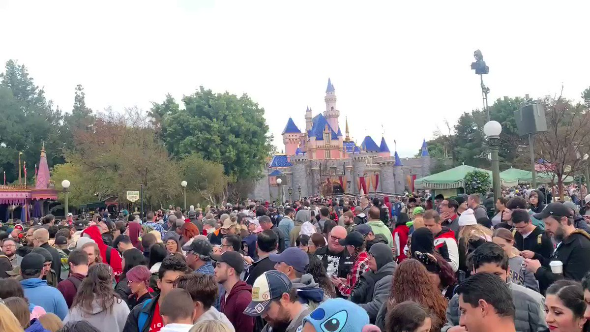 At #DisneyLand awaiting our chance at riding #RiseOfTheResistance on opening day. Woot!
